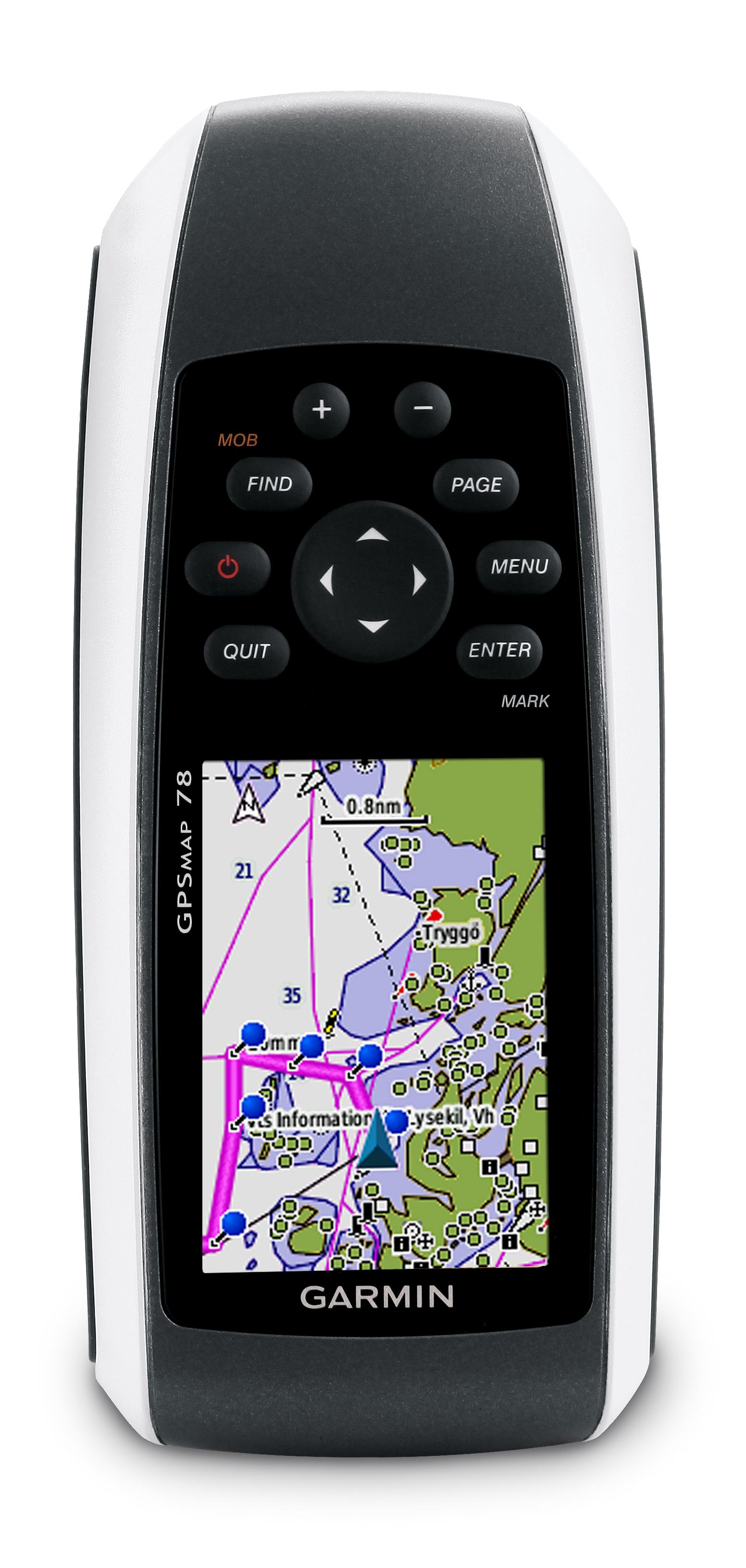 garmin gpsmap 78 handheld gps front view