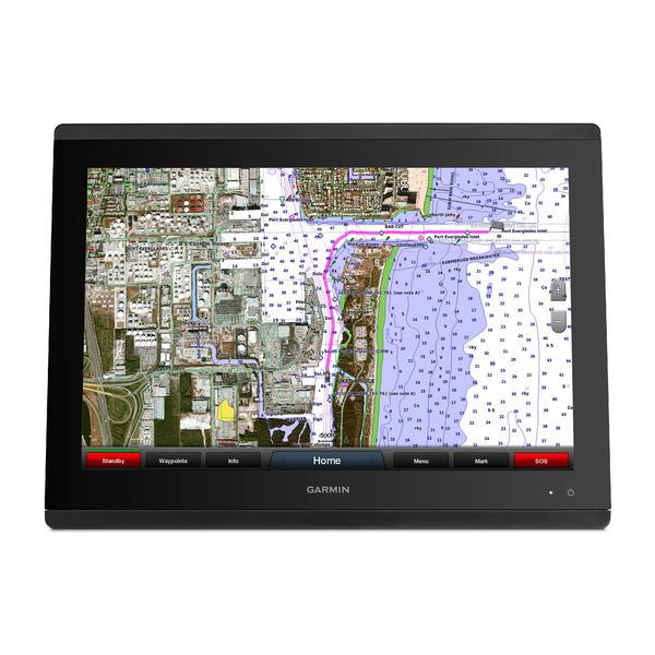 garmin gpsmap 8424 mfd map front view