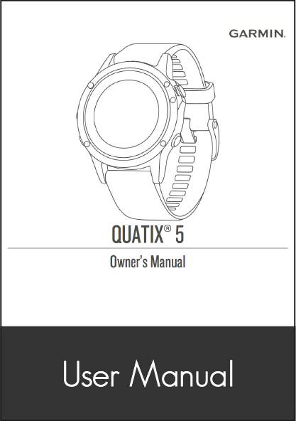 garmin quatix 5 smartwatch user manual