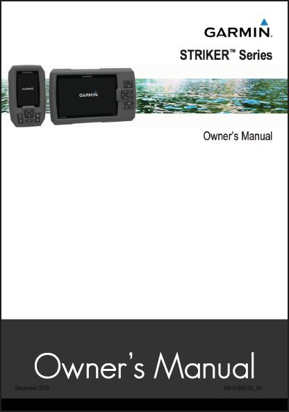 garmin striker series fishfinder owners manual