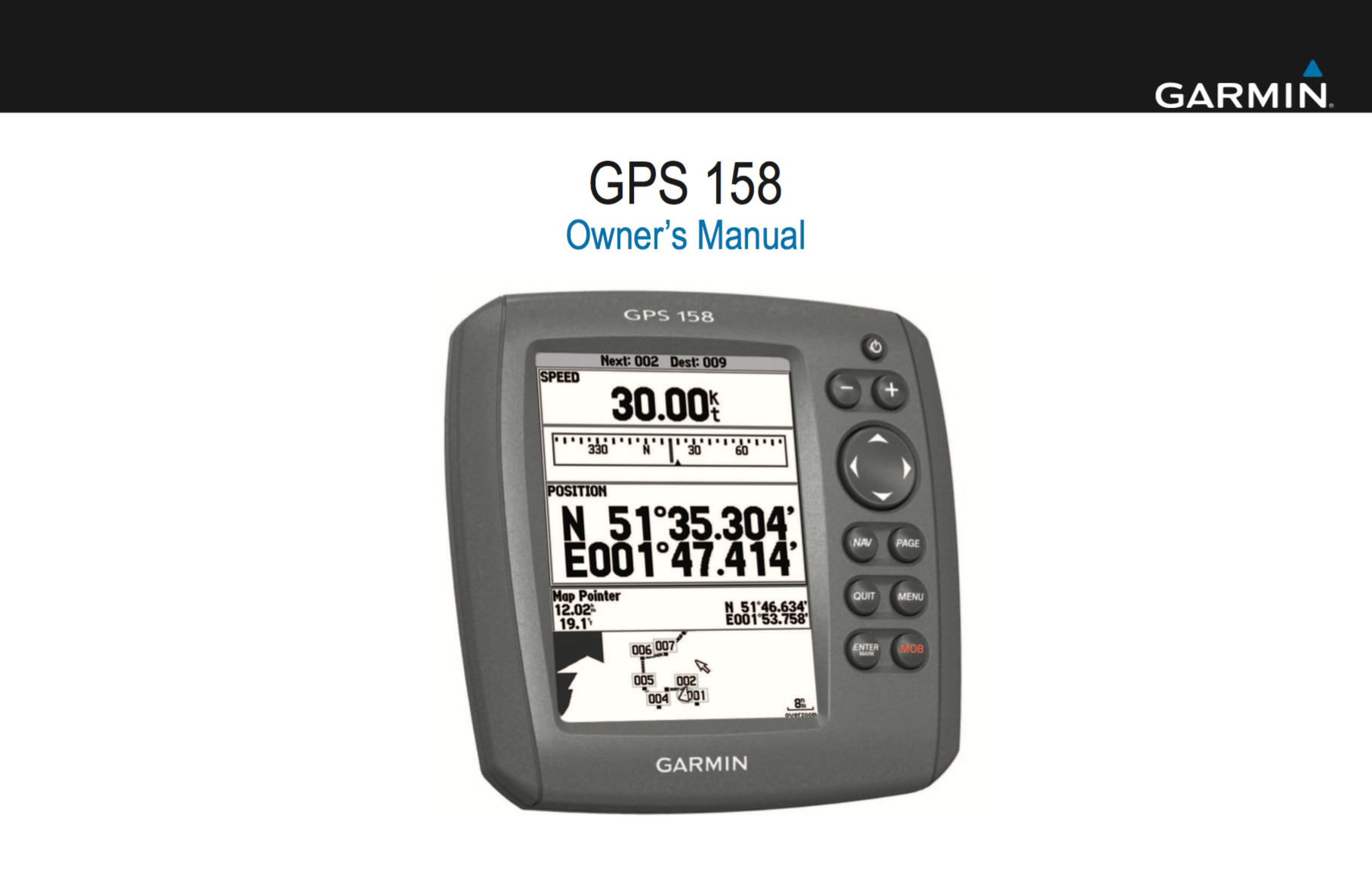 gps 158 owners manual