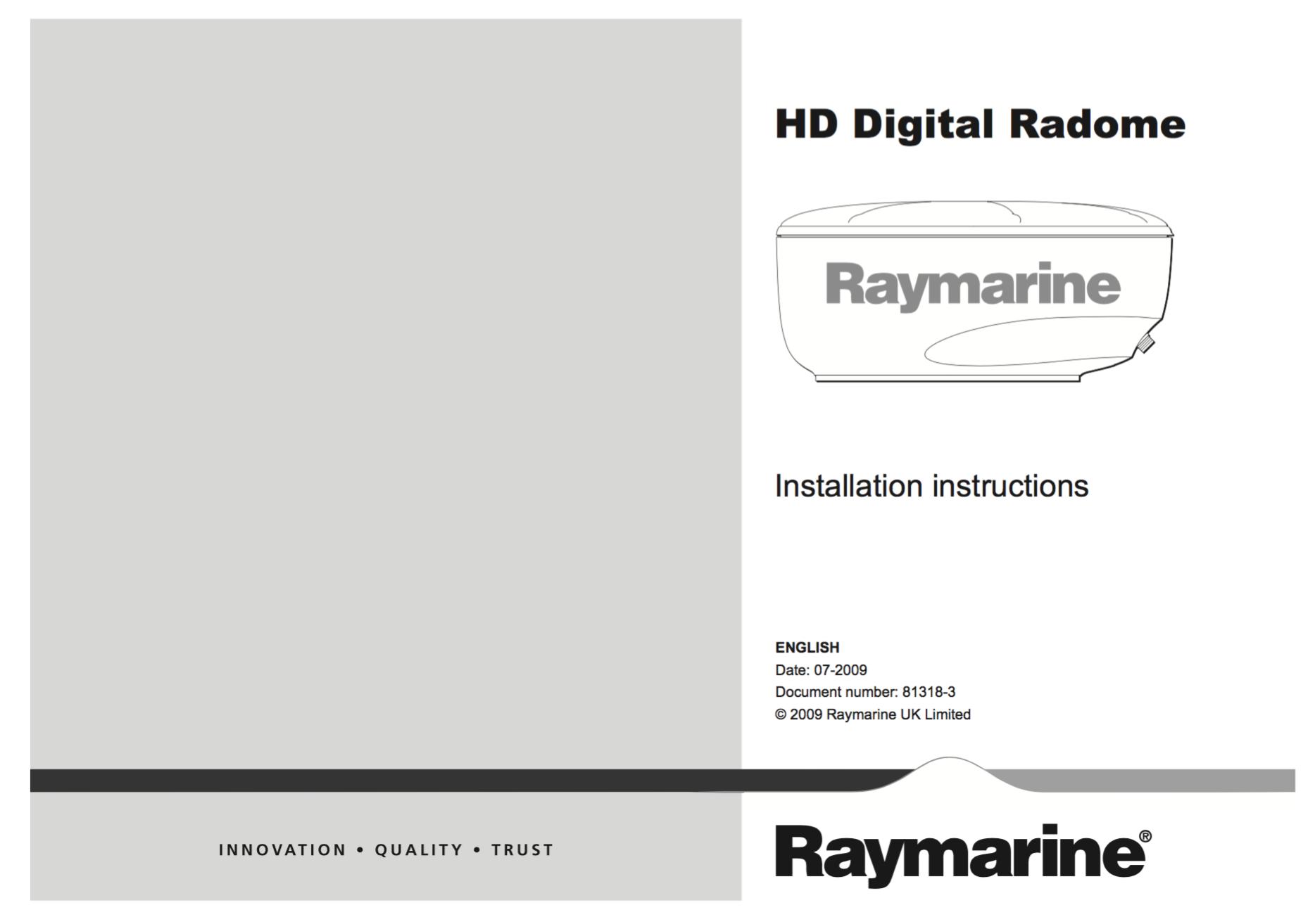 hd digital radome installation instructions