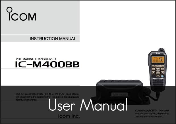 icom ic m400bb vhf fixed radio manual