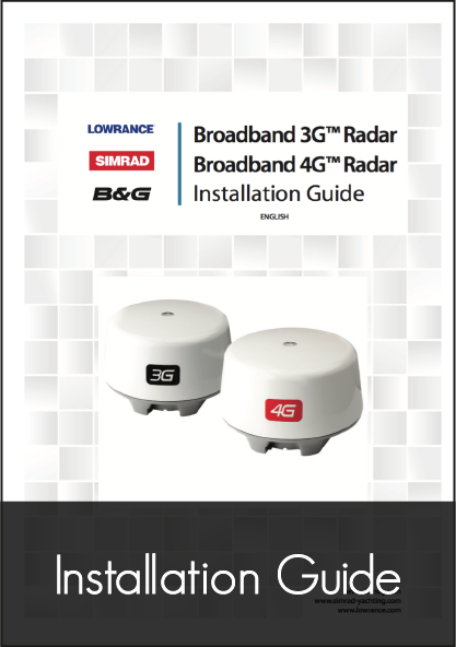 lowrance broadband radar 3g 4g installation guide