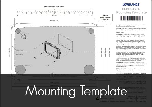 lowrance elite ti 12 mounting template