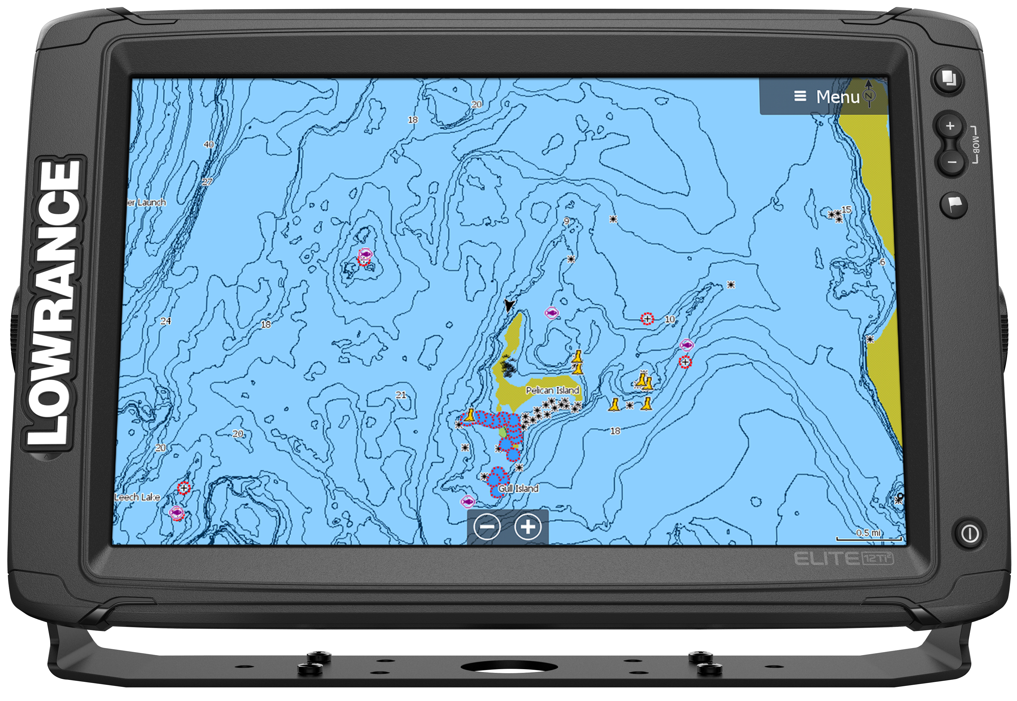 Lowrance Elite-12 Ti² & Active Imaging 3-in-1 Transducer