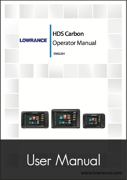 lowrance hds carbon operator manual