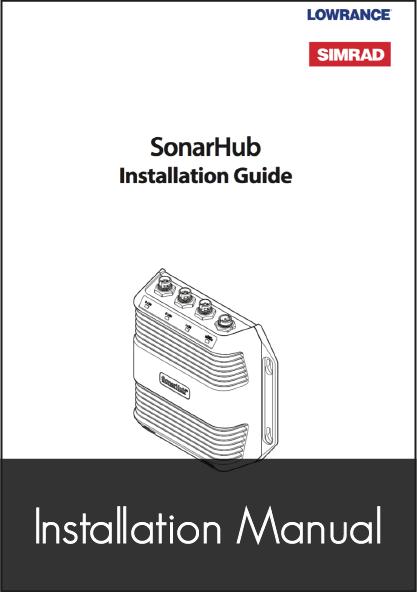 lowrance sonar hub installation guide