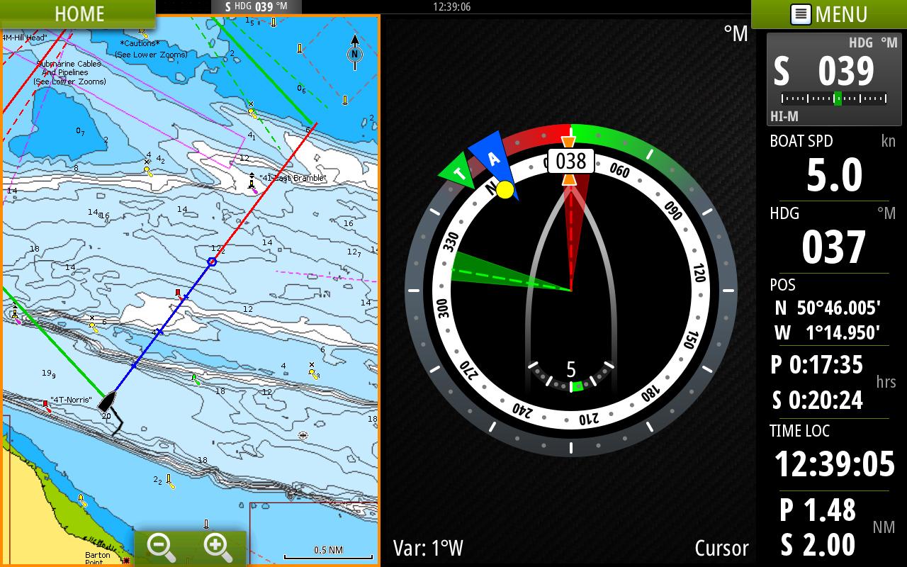 navionics chart with sailsteer page emea b g vulcan 7 screenshots