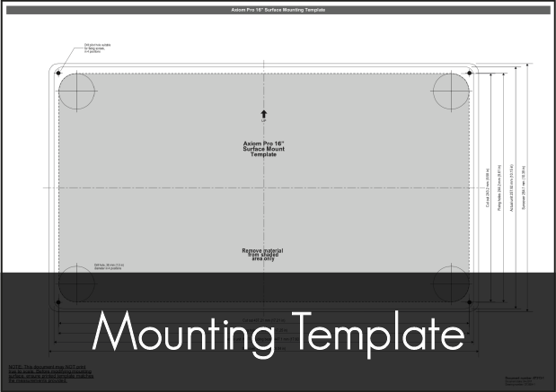 raymarine axiom pro 16 mounting template