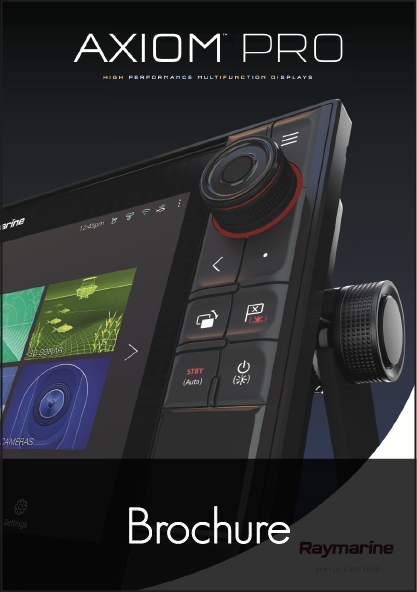 raymarine axiom pro multifunction display brochure