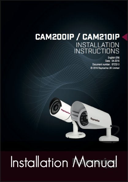 raymarine cam210 ip marine camera installation instructions