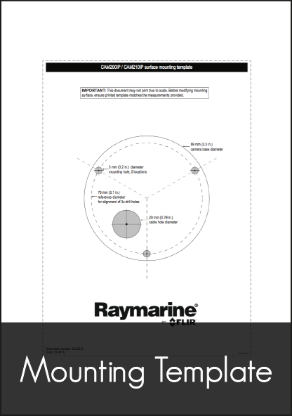 raymarine cam210 ip marine camera mounting template