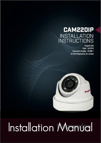 raymarine-cam220 ip dome marine camera installation instructions