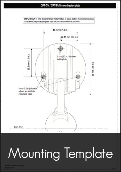 raymarine cpt dv dvs transom transducer mounting template