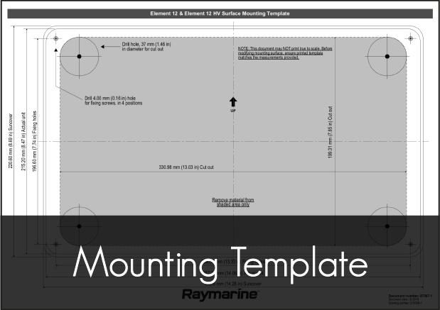 raymarine element 12 mounting template