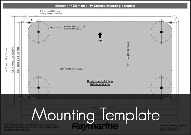 raymarine element 7 mounting template