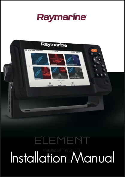 raymarine element hv display installation instructions