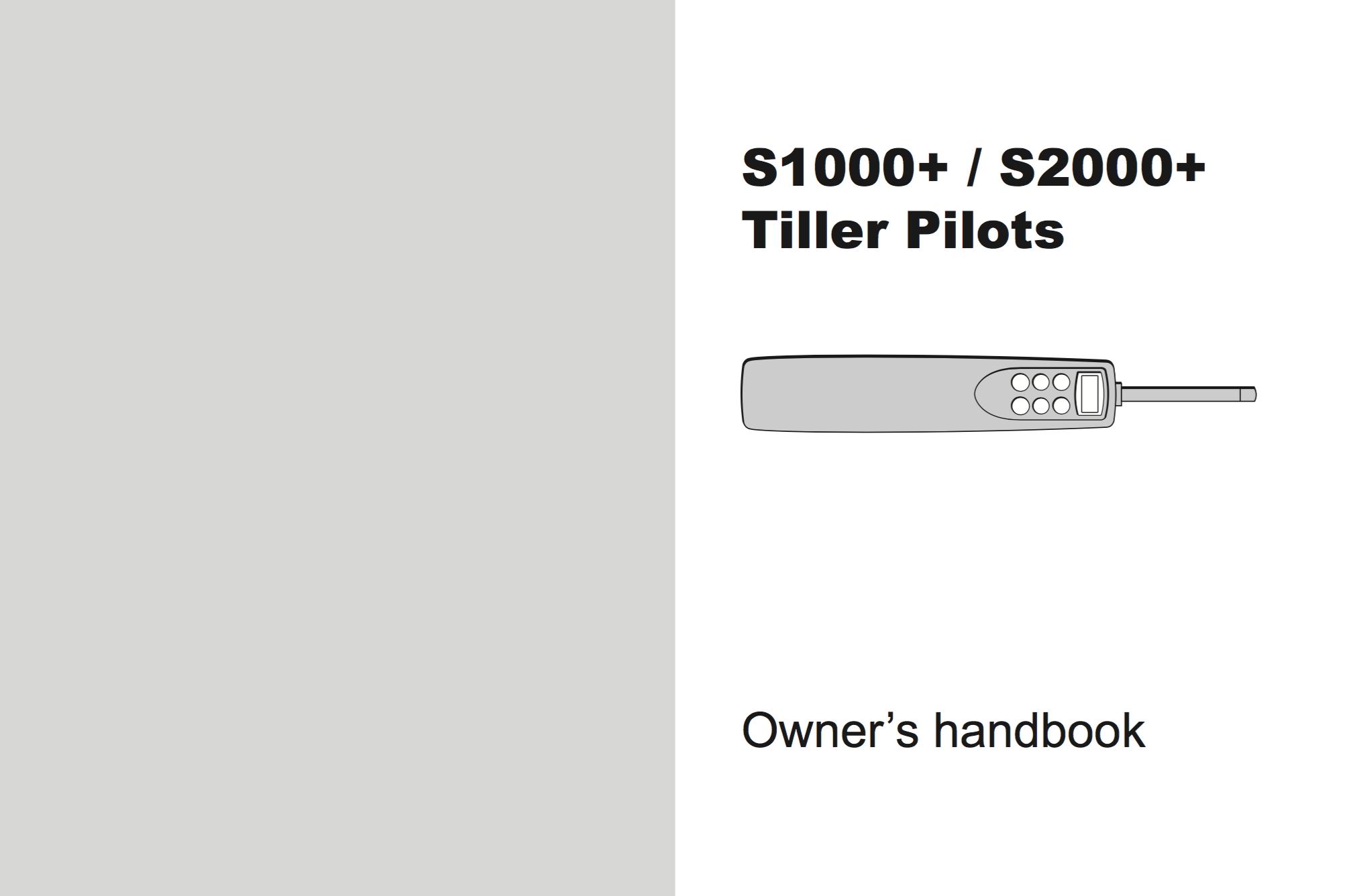 s1000 s2000 tiller pilots manual