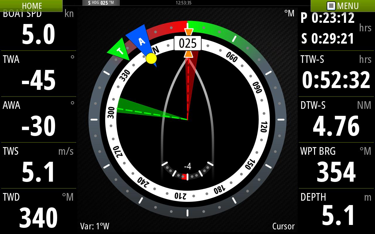 sailsteer b g vulcan 7 screenshots