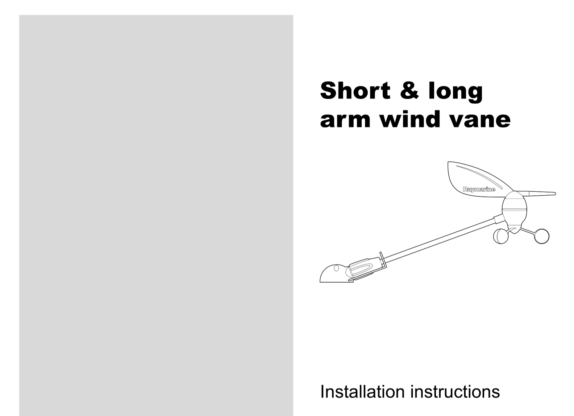 short arm vane wind transducer manual