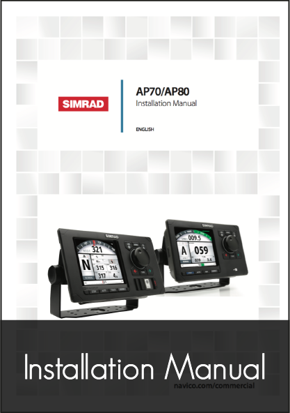 simrad ap70 ap80 autopilot control head installation manual