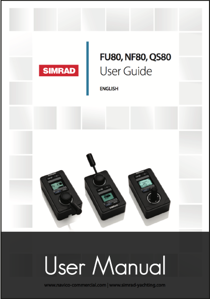 simrad fu80 nf80 qs80 remote user manual
