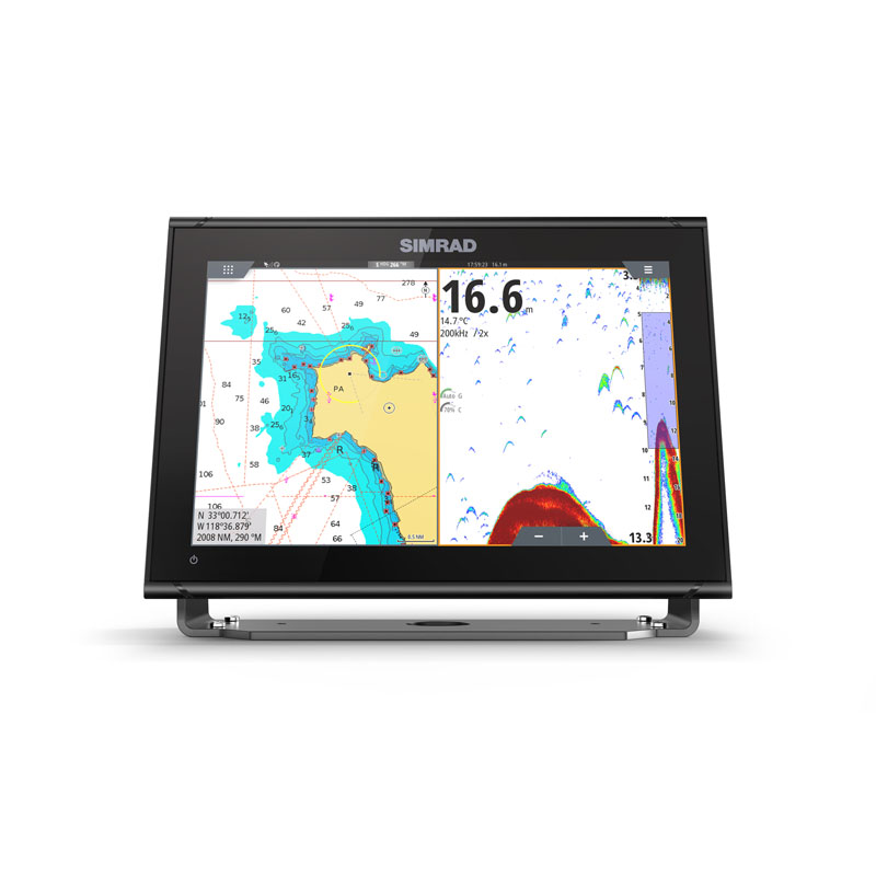 simrad go 12 xse multifunction display front view