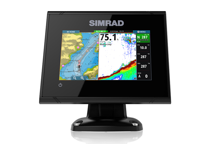 simrad go 5 multifunction display front view