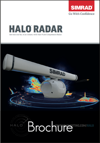 simrad halo open array radar brochure