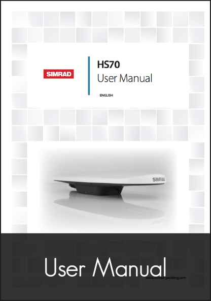 simrad hs70 gps compass user manual