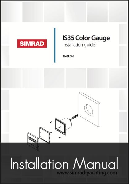 simrad is35 digital gauge instrument installation manual