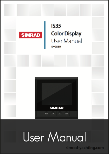 simrad is35 digital gauge instrument user manual
