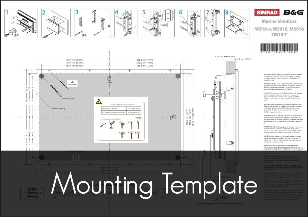 simrad mo 16 monitor mounting template