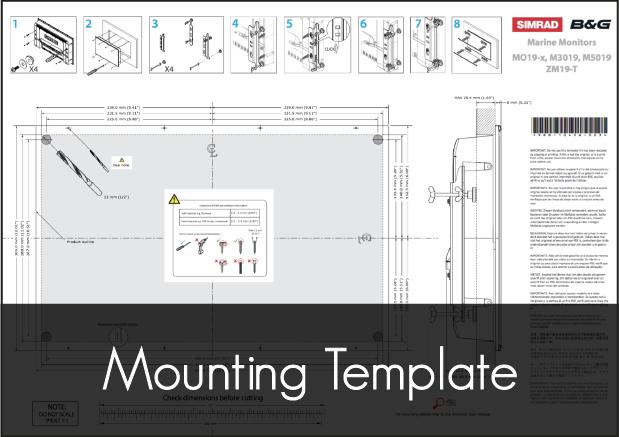 simrad mo 19 monitor mounting template