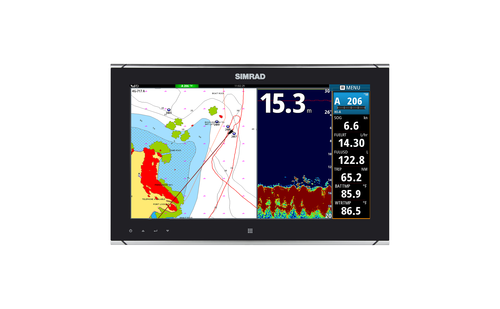 simrad mo16 p marine monitor chart sonar
