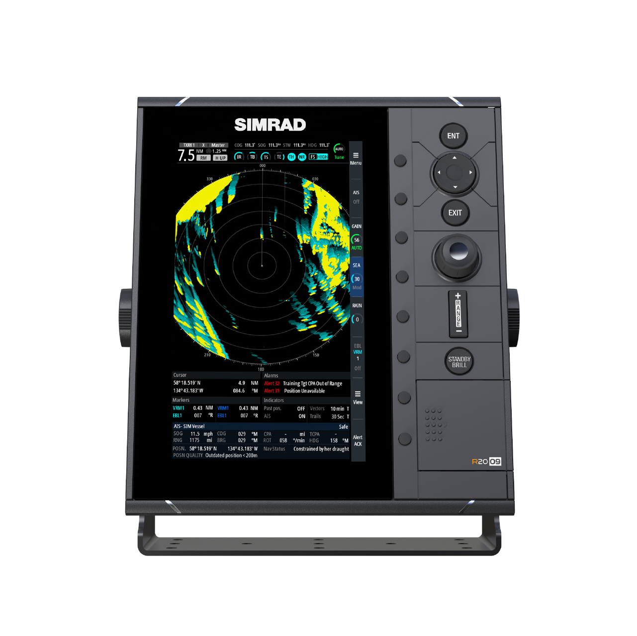 simrad pro marine radar r2009 large front view