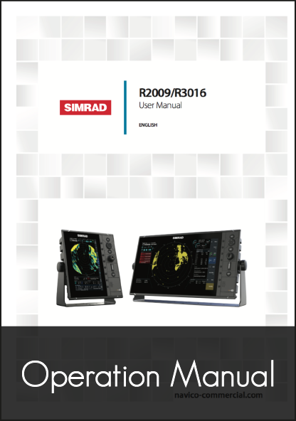 simrad r2009 r3016 stand alone radar quick user manual