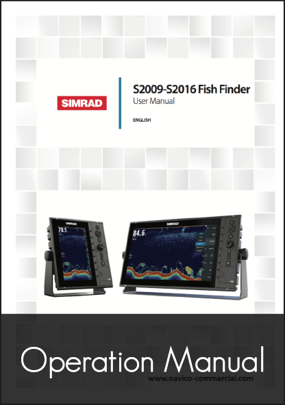 simrad s2009 s2016 fishfinder user manual