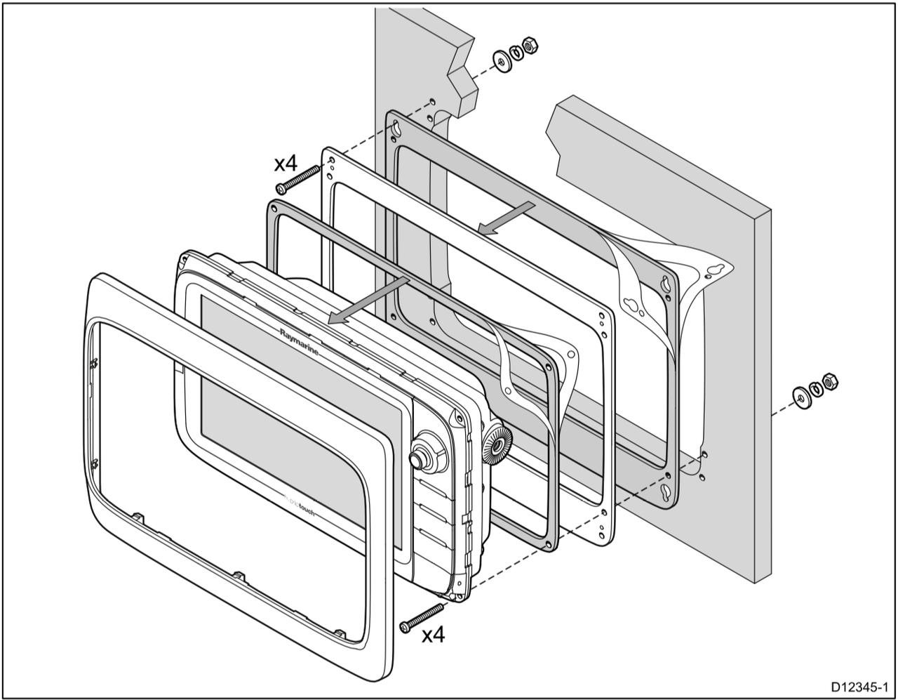 raymarine c80 wiring diagram wiring library Wiring Schematics raymarine c9, e9 mounting adaptor kit for c80 e80 cutout