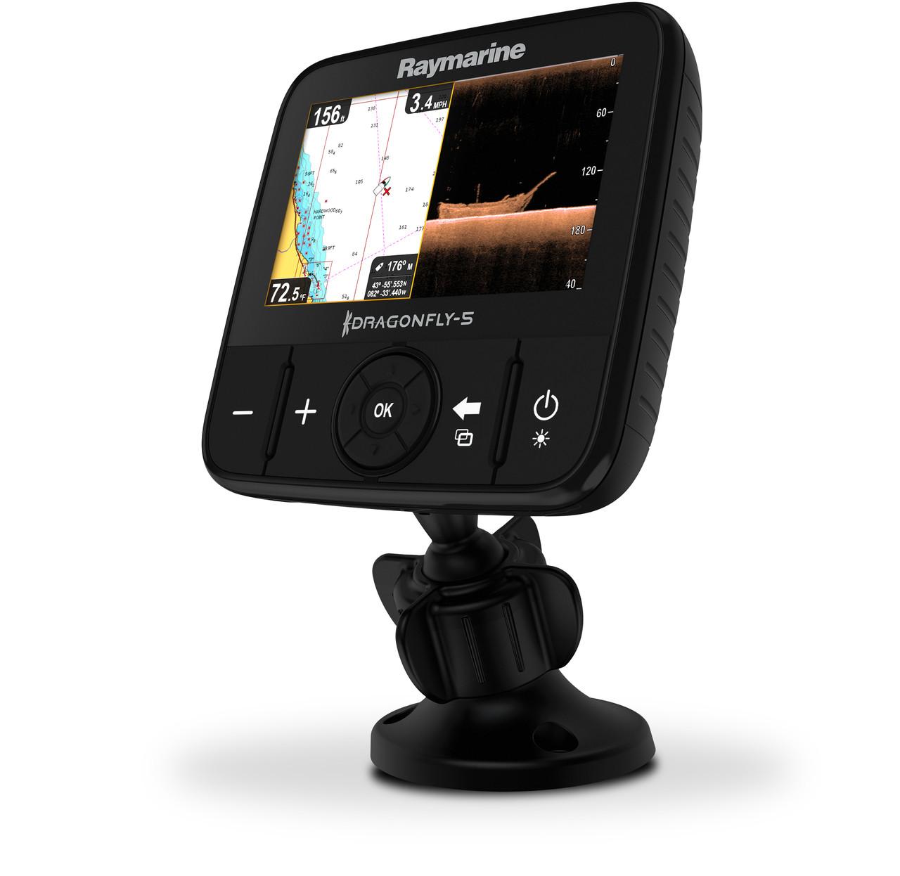 Raymarine Dragonfly 5PRO Fishfinder Right View