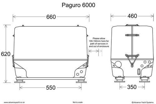 Paguro 6000 Marine Generator Dimensions