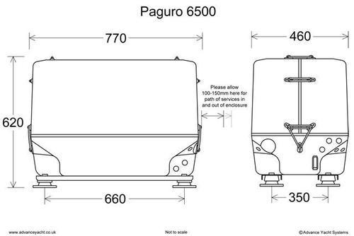 Paguro 6500 Marine Generator Dimensions