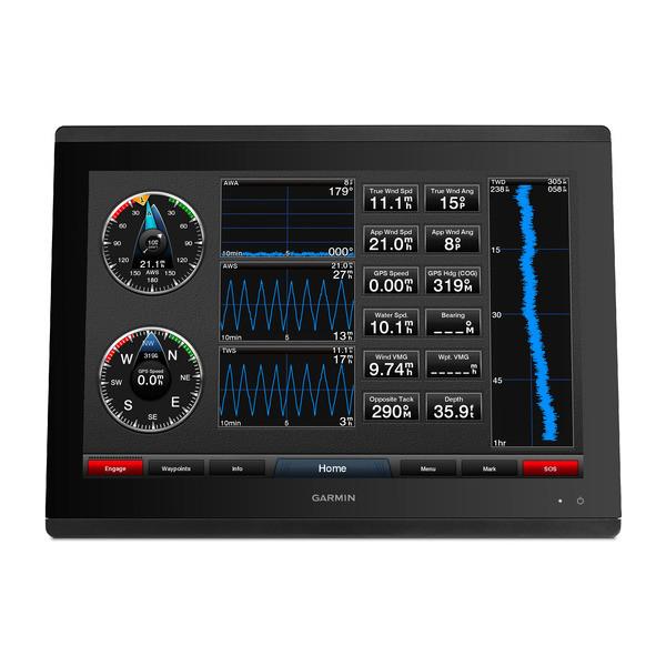 Garmin GPSMAP 8417 Multifunction Display Data Front View