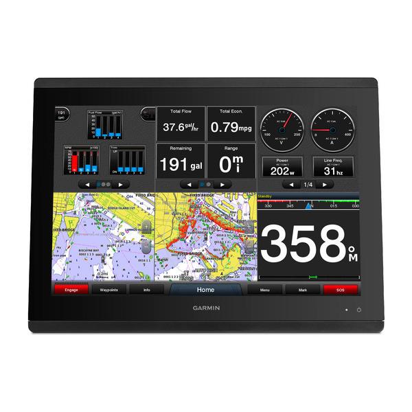 Garmin GPSMAP 8417 Multifunction Display Map Data Front View