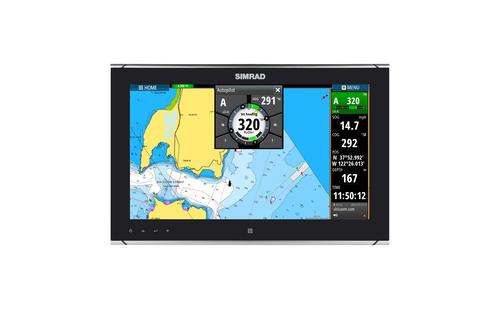 Simrad MO16-T Monitor Chart and Pilot Overlay