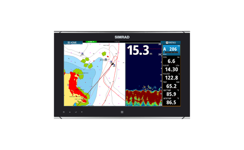 Simrad MO16-T Monitor Chart and Sonar