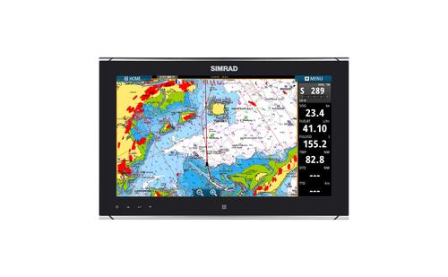 Simrad MO16-T Monitor Chart and Radar Overlay