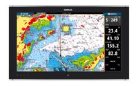 Simrad MO24-T Monitor Chart and Radar Overlay