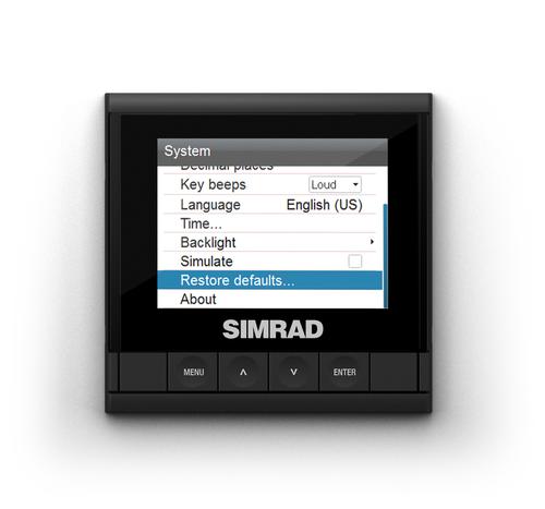 Simrad IS35 Digital Gauge Restore